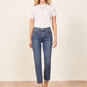 Reformation Julia Crop High Cigarette Jean Size 16